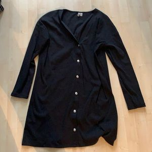 Asos long black cardigan snap buttons like new